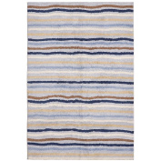 St Croix Trading Company Carousel Blue Ziggy  4x6 Area Rug