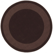 St Croix Trading Company Transitions Chocolate Cut & Loop Border 6x6 Round Area Rug