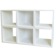 Way Basics Benches zBoard Eco 100cm . x 33cm . White 3-Cube Storage Bench and Stackable Organiser BS-CB-1-WE