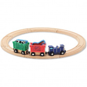 Melissa & Doug Farm Animal Wooden Train Set