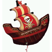 Party Destination 160004 Pirate Ship Shape Jumbo 40 in. Foil Balloon