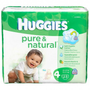Huggies 23 Ct Pure and Natural Nappies - Size 4