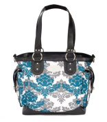 JJ Cole Boutique Norah Nappy Bag - Teal Fleur