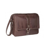 Lassig Glam Small Messenger Nappy Bag - Chocolate