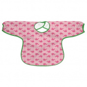 Green Sprouts Long Sleeve Slicker Bib - Pink Whales - 2-4 yrs - Stage 4+
