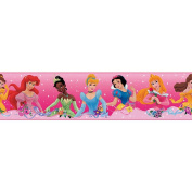 RoomMates Disney Princess - Dream from the Heart Pink Peel & Stick Border