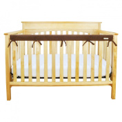 Trend Lab Fleece CribWrap Rail Cover for Long Rail, Brown, Narrow for Crib Rails Measuring up to 20cm Around!