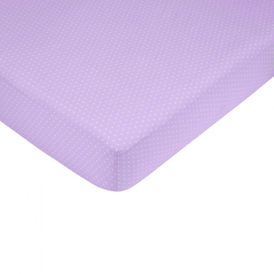 JoJo Designs Purple and Chocolate Mod Dots Collection Fitted Crib Sheet - Mini Dots