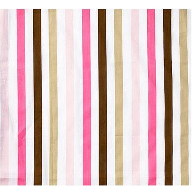 Bacati Mod Dots/Stripes Fitted Crib Sheet, Pink/Chocolate
