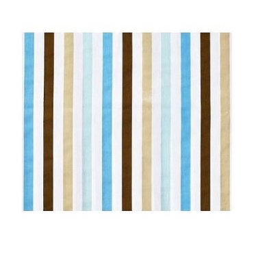 Bacati Aqua/Chocolate Mod Stripes Crib fitted sheet