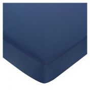 JoJo Designs Nautical Nights Collection Fitted Crib Sheet - Dark Blue