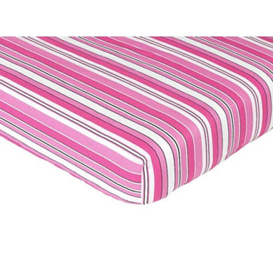 JoJo Designs Madison Collection Fitted Crib Sheet - Stripe