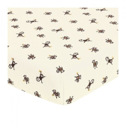 JoJo Designs Monkey Collection Fitted Crib Sheet - Monkey Print