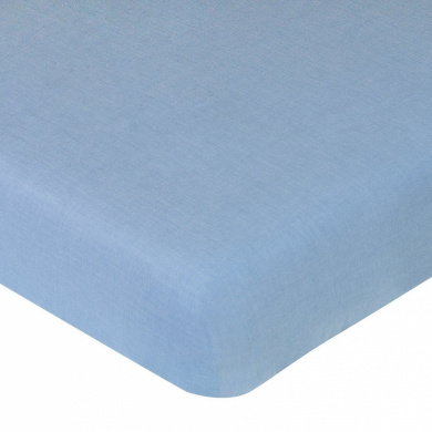 JoJo Designs Nautical Nights Collection Fitted Crib Sheet - Light Blue