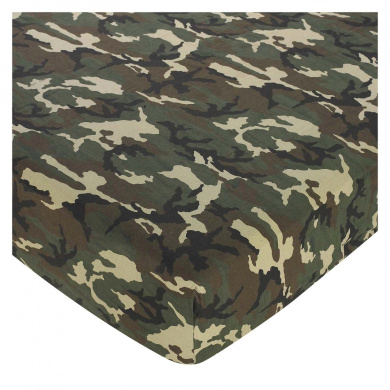 JoJo Designs Green Camo Collection Fitted Crib Sheet - Print