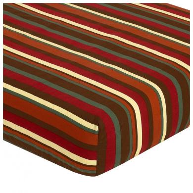 JoJo Designs Monkey Collection Fitted Crib Sheet - Stripe