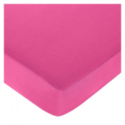 JoJo Designs Pink and Green Mod Circles Collection Pink Fitted Crib Sheet