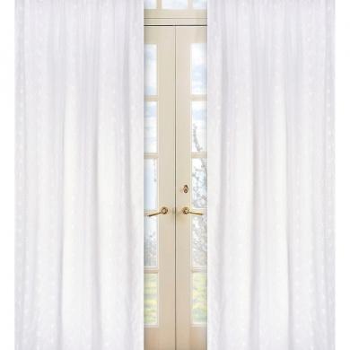 JoJo Designs White Eyelet Collection Window Panels - Set of 2