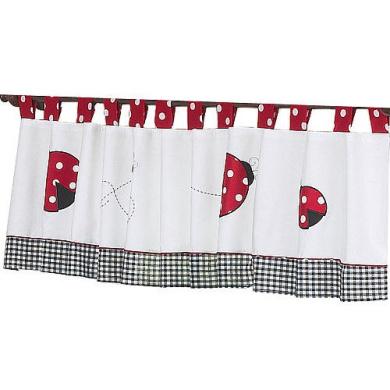JoJo Designs Polka Dot Ladybug Collection Window Valance