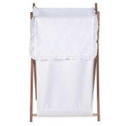 JoJo Designs White Eyelet Collection Laundry Hamper