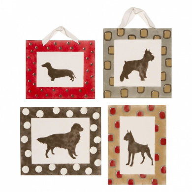 Cotton Tale Houndstooth  4-Piece Wall Art