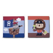 Kids Line Pirate Party 2-Piece Wall Art