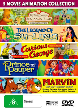 5 Movie Collection: Children - Benjamin Bear: Working Together/The Legend of Su-Ling/Curious George/The Prince and the Pauper/Ma