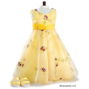 Carpatina Yellow Holiday Party Dress and Sandals for 18'' American Girl Dolls