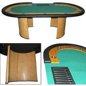 Trademark Poker Professional Texas Hold'em Poker Table with Dealer Position