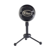 BLUE Snowball Multi-pattern USB mic, includes tripod and USB cable.  Colour Black