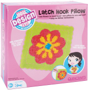 Quincrafts You Design It Latch Hook Pillow Kit, Flower