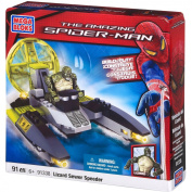 Mega Bloks The Amazing Spider-Man Lizard Sewer Speeder Building Set