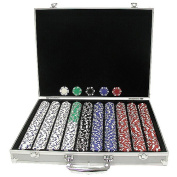 Trademark Global Suited Design Poker Chips in Acrylic Carrier
