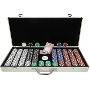 Trademark Poker 650-pc. Poker Chip Set with Dice Detail and Aluminum Case
