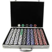 Trademark Global Striped Dice Poker Chips Texas Hold Em Set