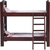 Guidecraft Doll Bunk Bed, Espresso