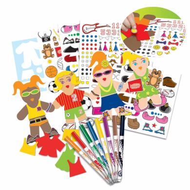 MegaBrands Paper Doll Creation Activity Kit