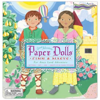 eeBoo Great Adventures Paper Dolls