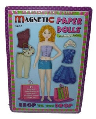 Shop 'til you Drop Magnetic Paper Dolls in Tin