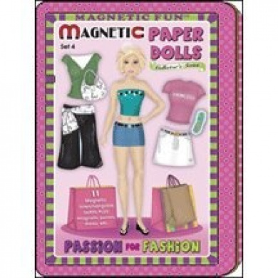 Passion for Fashion Magnetic Paper Dolls Travel Tin