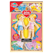 T.S. Shure Sweet Hearts Wooden Magnetic Dress-Up Dolls, Multi Coloured