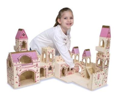 New - Folding Princess Castle - 1263
