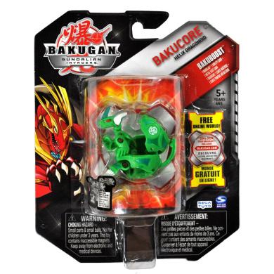 Spin Master Year 2010 Bakugan Gundalian Invaders BakuCore Series Bakuboost Single Figure Set #20033926 - Ventus Green HELIX DRAGONOID with 1 Ability Card and 1 Metal Gate Card Plus Hidden DNA Code