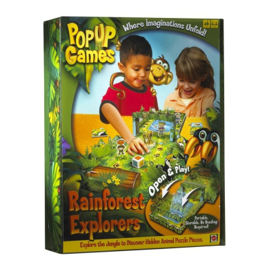 Rainforest Safari Open and Play Pop-Up Game