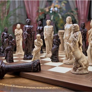 Gods of Greek Mythology Chess Set: Pieces Only