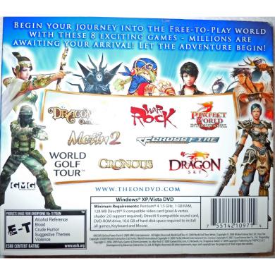 On! DVD Online Power Pak, Special Issue 1, 8 Games, Dragonsky, Cronous, War Rock, Perfect World International, Dragonica Online, Crossfire, Metin 2 & World Golf Tour