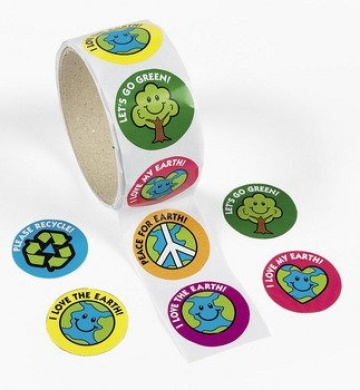 Save The Earth Roll Stickers - Curriculum Projects & Activities & Science
