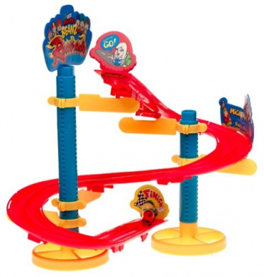 Mighty Beanz Racetrack Set Super SBend Crazy Corner Action!