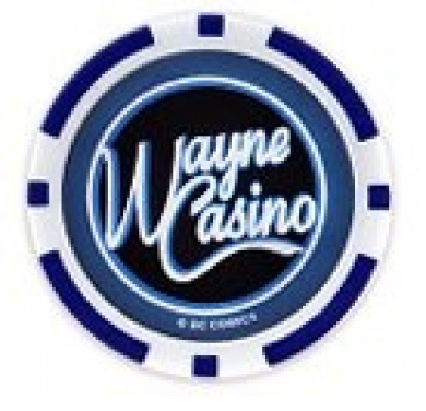 Batman's Wayne Casino Collectors Edition $10 Poker Chip Blue Coloured Variant