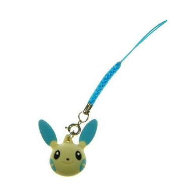 Pokemon Strap with Minun Head Figure *** Free Domestic Standard Shipping For This Item ***